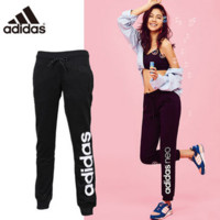 """""""Adidas"""" Women Clover Letter Print Knit Casual Long Pants Systole Foot Sweatpants"""