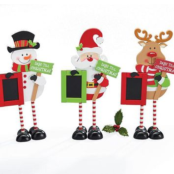 Christmas Characters with Countdown Chalkboard
