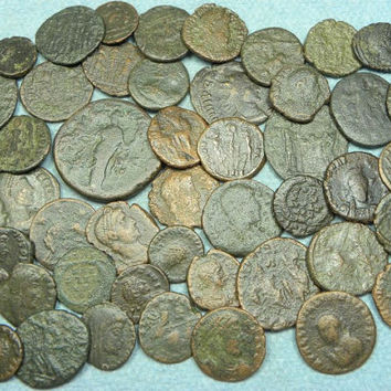 True Roman Bronze Coins 1000 Years Old