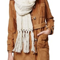 Topshop Cable Knit Tassel Scarf | Nordstrom