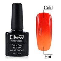 Chameleon Temperature Changing Colour Nail Lacquers Soak Off UV LED Gel Polish Orange-red - Orange