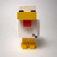 Handmade Minecraft Chicken Wooden Figurine by GinsBin on Etsy