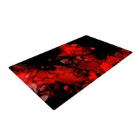 "Claire Day ""Vesuvius"" Red Dark Woven Area Rug"