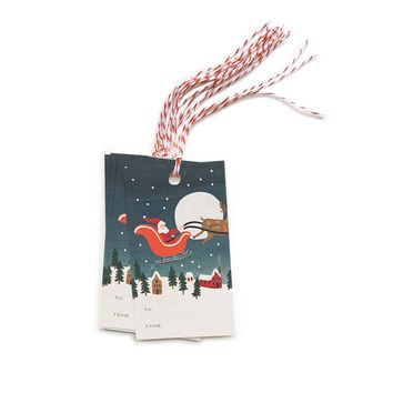 Santa's Sleigh Holiday Gift Tags