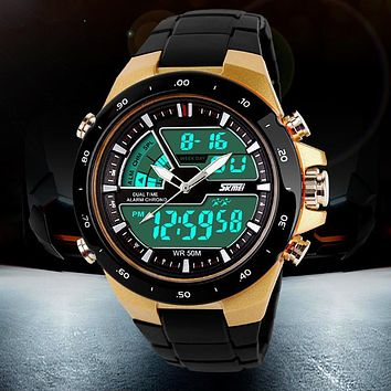 50M Waterproof Shockproof Men's Sports Watches Relogio Masculino 2016