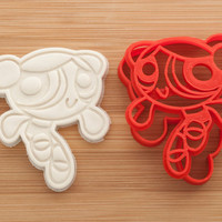 Powerpuff Girls. Bubbles. Cookie cutters. Gingerbread and cookies.