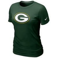 Nike Green Bay Packers Women's Basic Logo T-Shirt - Green