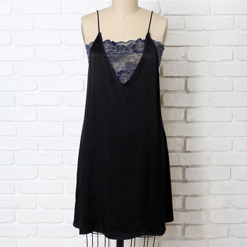 Blakely Lace and Silk Slip Dress-FINAL SALE