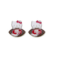 San Francisco 49ers Hello Kitty Earrings