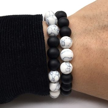 New Fashion Classic Natural Stone Black Volcanic Lava Beads Bracelets High Quality Energy Stone Bracelet for women men Gift Yoga
