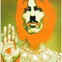 George Harrison Psychedelic Beatles Poster 11x17