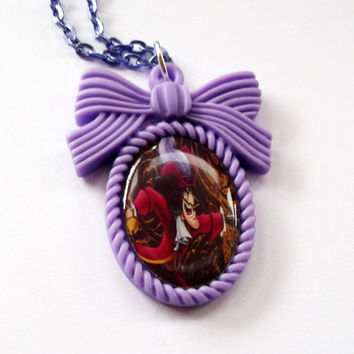 Captain Hook Necklace Peter Pan Disney by KitschBitchJewellery