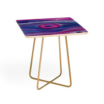 Viviana Gonzalez AGATE Inspired Watercolor Abstract 05 Side Table