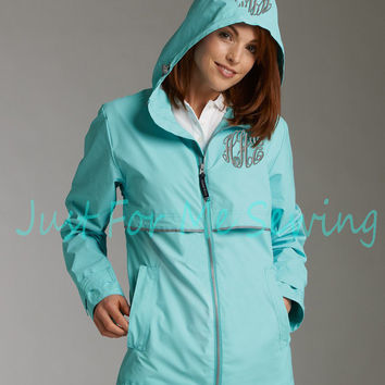 Monogrammed Rain Jacket Personalized by JustForMeSewing on Etsy