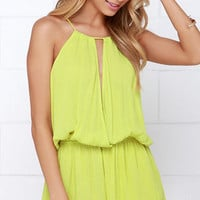 Show Me the Anemone Chartreuse Romper