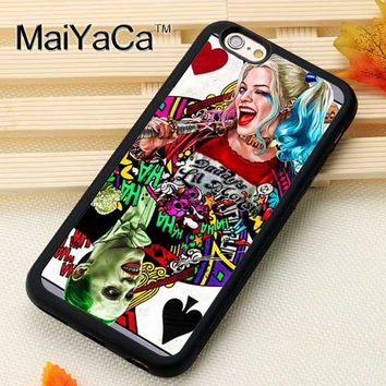 MaiYaCa Suicide Squad Harley Quinn Joker For iPhone 6 iPhone 6s Case Soft Rubber TPU Phone Cases Cover For Apple iPhone 6 Coque