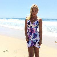 Feel The Passion Bodycon Floral Dress