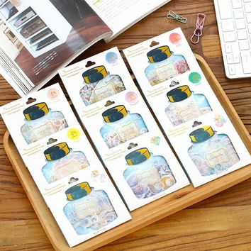 48PCs/Pack Japan Q-LiA drifting bottle Classic Paper Stickers Daily Scrapbooking Stationery School Supplies Sticker M0303