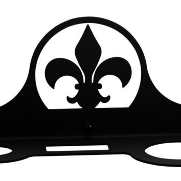 Wrought Iron Fleur-de-lis Hair Dryer Holder Rack