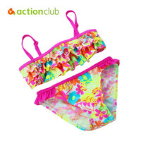 Actionclub Colorful Baby Girl Swimsuit Bikini New Born Infant Bathing Suits Swimwear For Babies1-16Y Children Clothing KW079