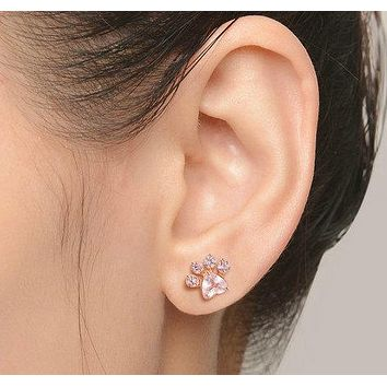 KITTEN PAW STUD EARRINGS