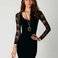 Free People Ginger Long Sleeve Lace Back Tunic at Free People Clothing Boutique