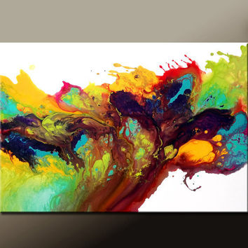Abstract Art Painting on Canvas 36x24 Original Modern Contemporary Painting by Destiny Womack - dWo - Where Dreams are Born