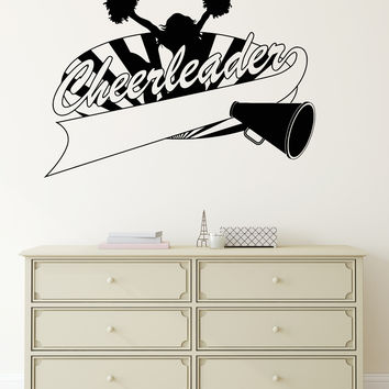 Vinyl Decal Cheerleaders Girl Sports Fan Club Wall Stickers Mural (ig2744)