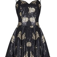 Women's Glitter Death Dress