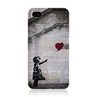 Ecell Banksy Balloon Girl Graffiti Back Case for iPhone 4/4S