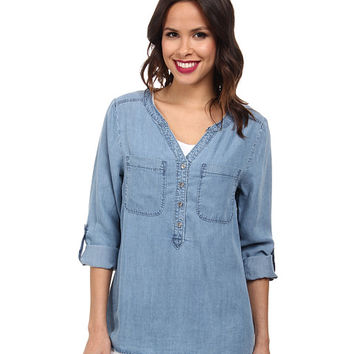 Miraclebody Jeans Margo Tencel Top w/ Body-Shaping Inner Shell