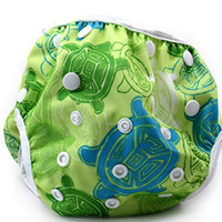 Nageuret Premium Reusable Baby Swim Diapers By Beau & Belle Littles. Washable, Adjustable Cloth Swimming Diapers Fit Babies 0-3 Years, 6-40 Lbs Very Cute Waterproof Infant Swim Diaper, Makes a Great Gift for New Parents and Swimming Lessons! (Sea Turtles)
