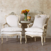 One of a Kind Vintage Armchair Toasted Almond Set of 2
