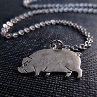 Pig Necklace - Silver