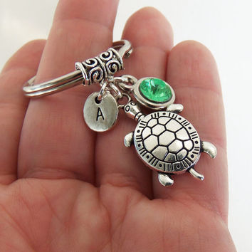 Turtle keychain, sea turtle key chain, seaturtle keyring, turtle key ring, beach accessories, car key ring, car accessories, tortoise charm