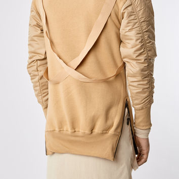 B13 Flight Bomber Sweater - Beige