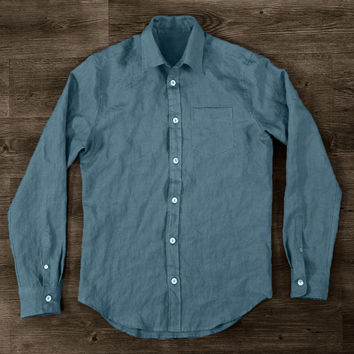 Washed Linen Men's Shirt