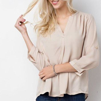 Core Blouse Taupe