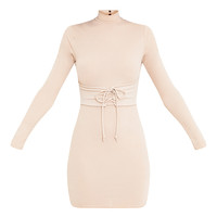 Martha Nude Corset Detail Bodycon Dress