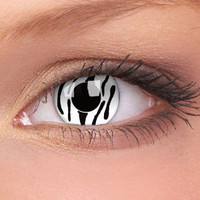 Cat Eyes Contact Lenses | Zebra Crazy Contact Lenses (Pair)