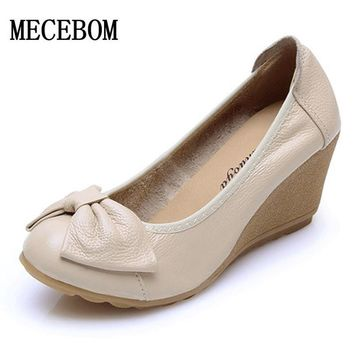 Women Spring Wedges white shoes wedding Wedge Elegant Bridesmaid Shoes Pointed Toe Women Shoes Round Toe Work Shoes A08W