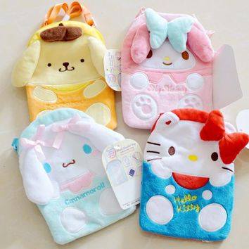 Cute My Melody Hello Kitty Cinnamoroll Pudding Dog Plush Bags Anime Cartoon Purse Phone Bag Girls Kids Lover Children Gifts
