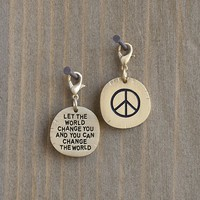 Peace  Sign  Change  The  World  Junk  Market  Charm  From  Natural  Life