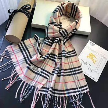 Burberry Classic Popular Women Men Children Cashmere Cape Scarf Scarves Shawl Accessories