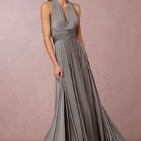 Ginger Convertible Maxi by Anthropologie x BHLDN in Charcoal Size: