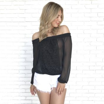 Summer Heat Sheer Off Shoulder Top