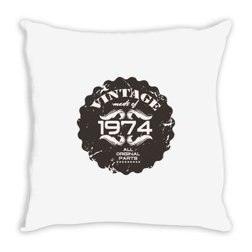 vintage made of 1974 all original parts Throw Pillow