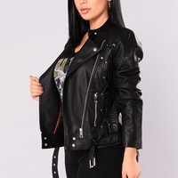 French Mole Moto Jacket - Black