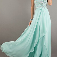 Elegant chiffon strapless Beadings diamond prom dress