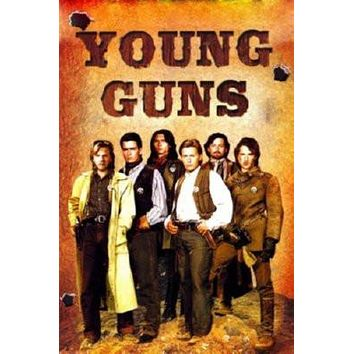 Young Guns Movie poster Metal Sign Wall Art 8in x 12in
